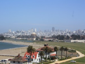Crissy Field mit Skyline San Francisco
