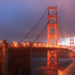 Golden Gate Bridge in San Francisco am Abend