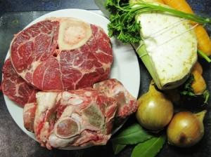 Zutaten für Rinderbrühe