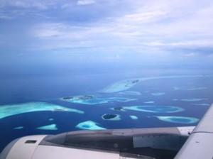 Malediven Inseln Luftbild