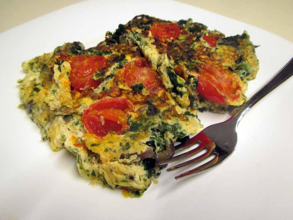 Paleo Spinat-Omelette mit Shrimps